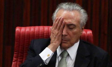 BC bloqueia R$ 8,2 milhões de Temer e R$ 23 milhões de coronel Lima