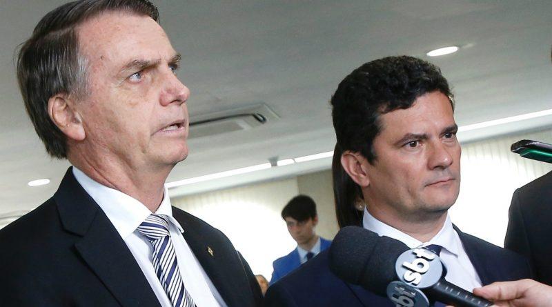 Bolsonaro e Moro se manifestam a favor de liberdade de expressão