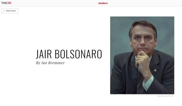 Bolsonaro aparece na lista dos '100 mais influentes' da revista 'Time' em 2019