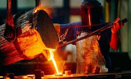 Produção siderúrgica cai 1,5% nos cinco primeiros meses do ano