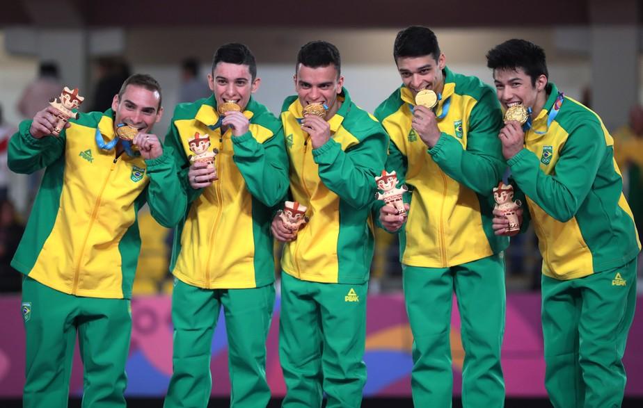 Brasil supera os EUA na ginástica e é ouro por equipe no Pan
