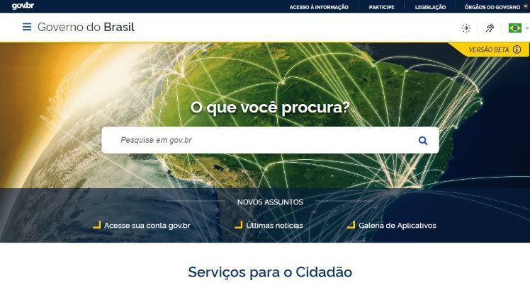 Portal único do governo já está disponível na internet