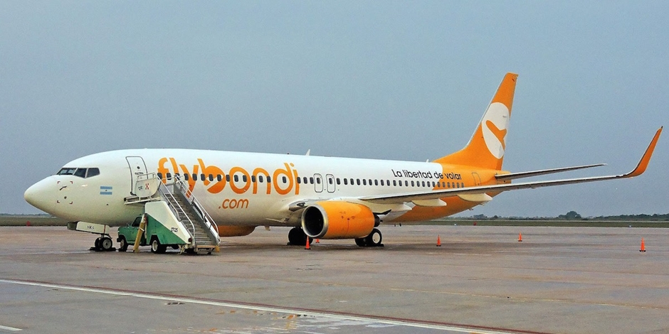 Aérea argentina Flybondi começa operar no Brasil a partir de outubro