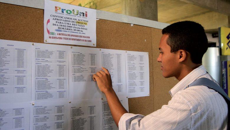 Lista de espera do Prouni já está disponível para consultas