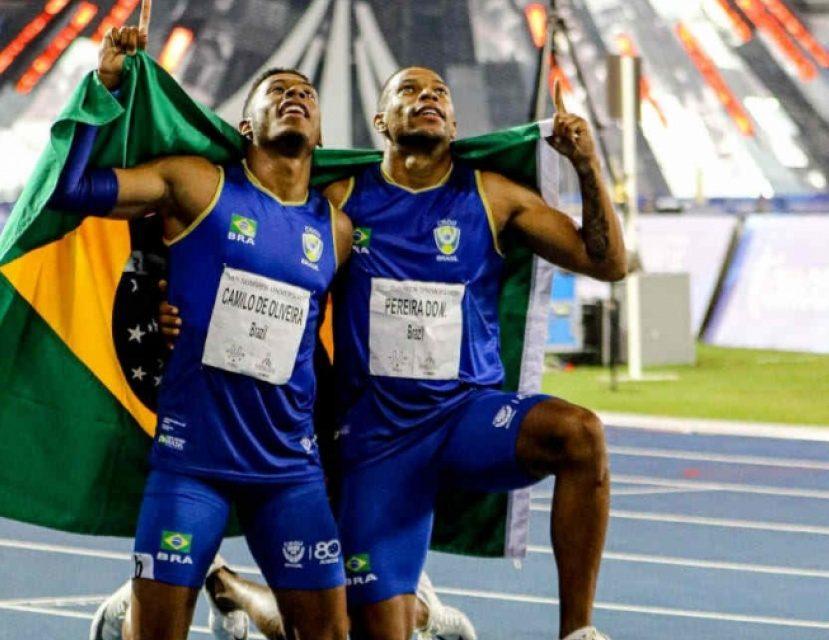 Brasil conquista ouro e bronze nos 100 metros rasos da Universíade