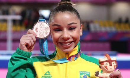 Flavinha cresce na final e conquista o bronze na ginástica artística do Pan