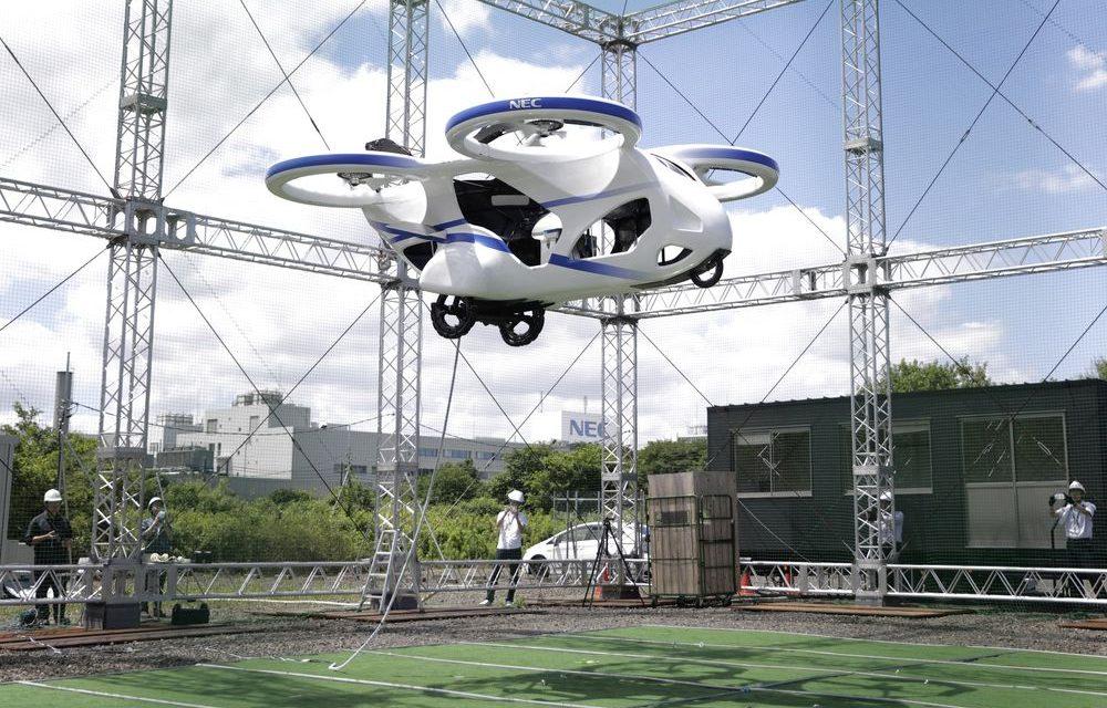Carro voador é testado no Japão