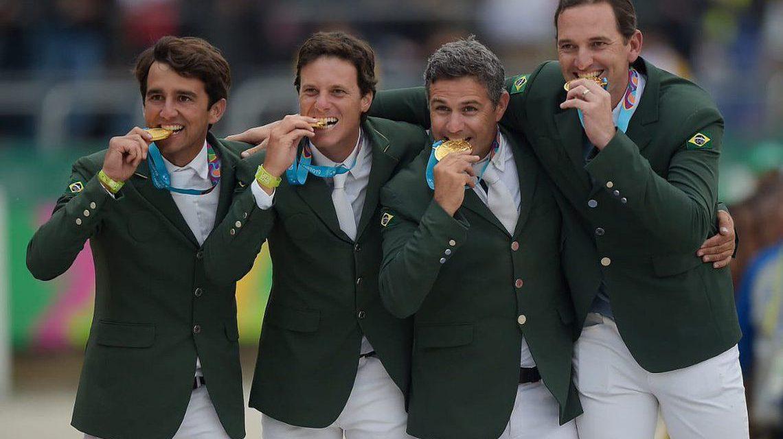 Brasil conquista ouro no lançamento de peso, tênis de mesa e hipismo