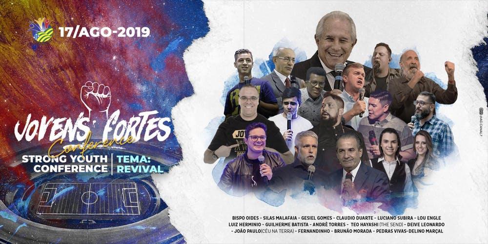 Conferência Jovens Fortes reúne grandes nomes da música gospel em 12h de programação, em Goiânia