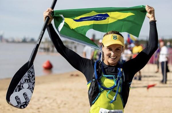 Brasil é ouro e prata na estreia do stand up paddle no Pan de Lima