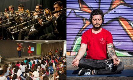 Centro Cultural Oscar Niemeyer promove atividades recreativas, apresentação de orquestras e aula de yoga