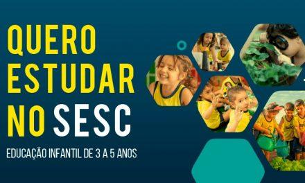 Sesc abre inscrições para o processo seletivo da Educação Infantil em 2020