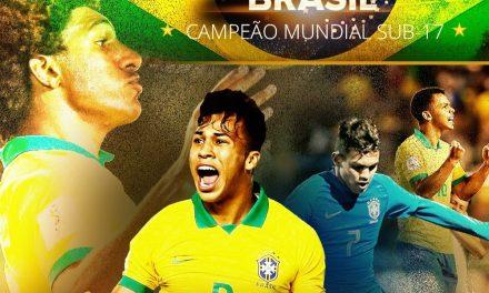É tetra! Brasil vira sobre o México e é campeão do Mundial Sub-17