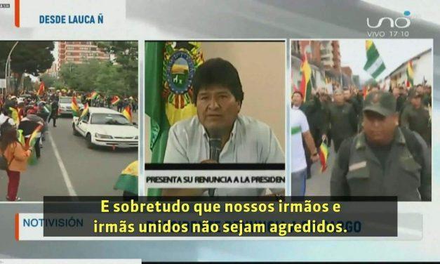 Evo Morales renuncia à presidência da Bolívia