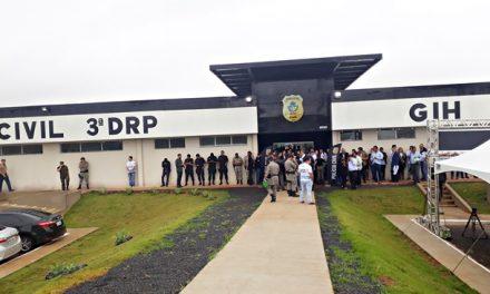 Caiado inaugura nova sede da 3ª Delegacia de Anápolis
