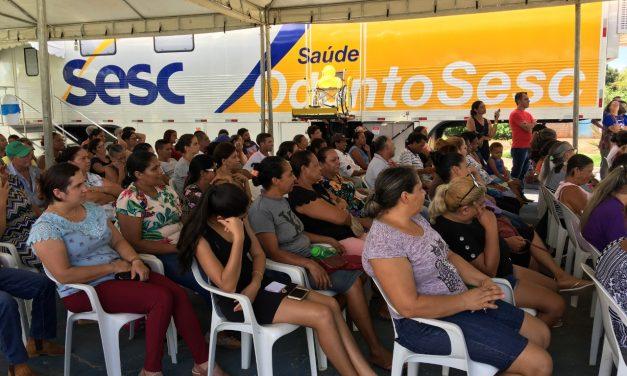 OdontoSesc realiza atendimentos gratuitos em Campos Verdes