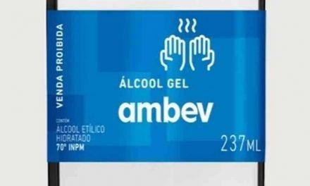Ambev vai produzir e doar 500 mil garrafas de álcool em gel a hospitais públicos