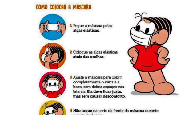 Turma da Mônica lança cartilha sobre o uso de máscaras