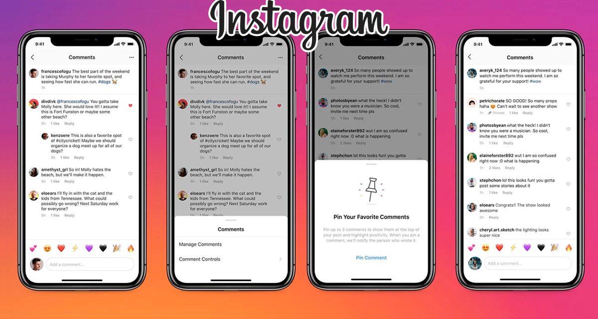 Como fixar um comentário no Instagram
