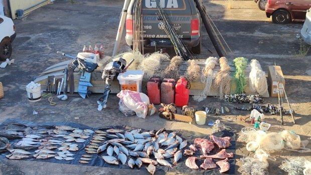 Araguaia: Operação apreende pescado em extinção em Luiz Alves