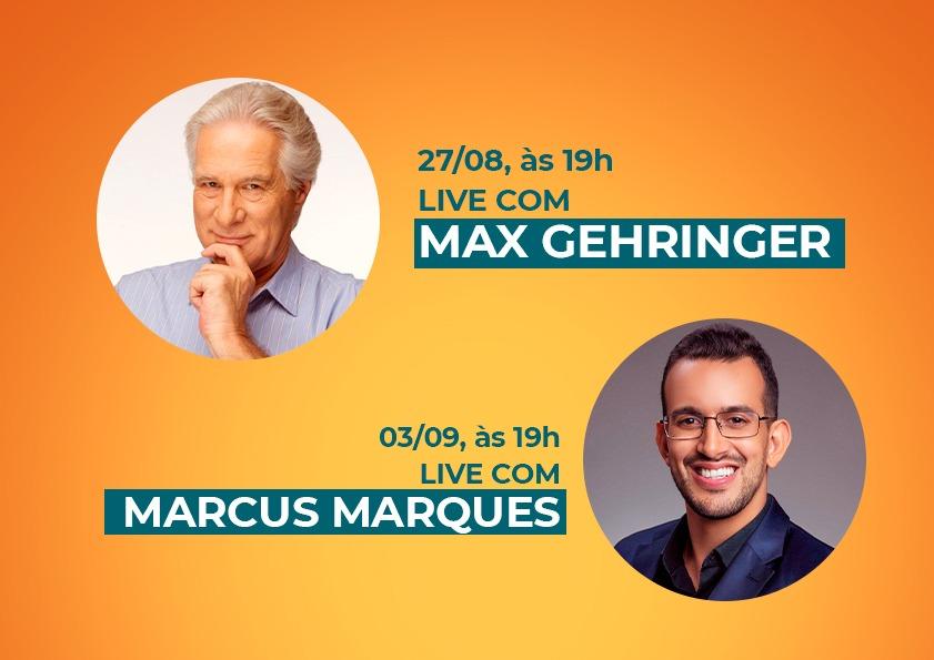 Max Gehringer e Marcus Marques realizam lives para o Plano de Retomada