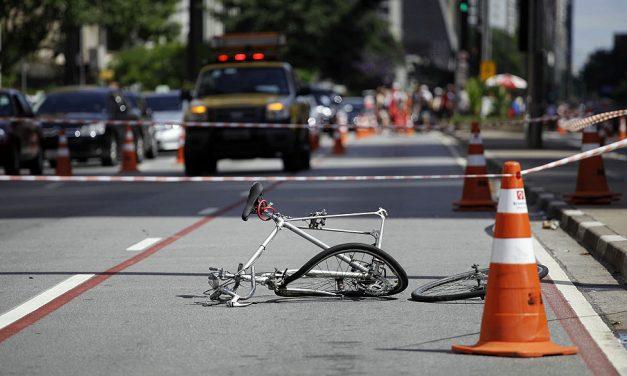 Atendimentos a ciclistas atropelados crescem 57% de 2010 a 2019