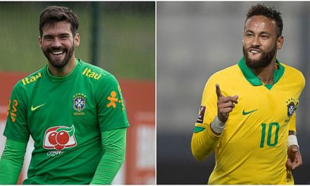 Neymar e Alisson são finalistas do prêmio Fifa The Best