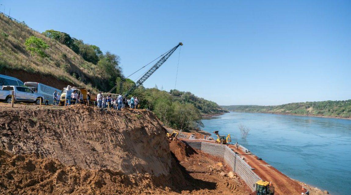 Bolsonaro visita obras da segunda ponte entre Brasil e Paraguai