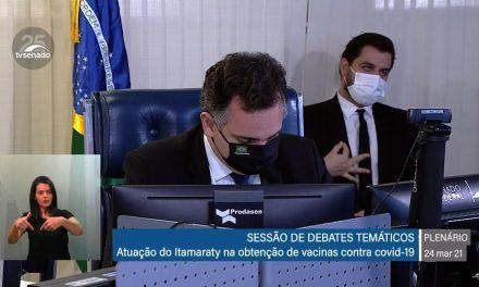 Pacheco pede apuração de gesto de assessor do Planalto em sessão do Senado