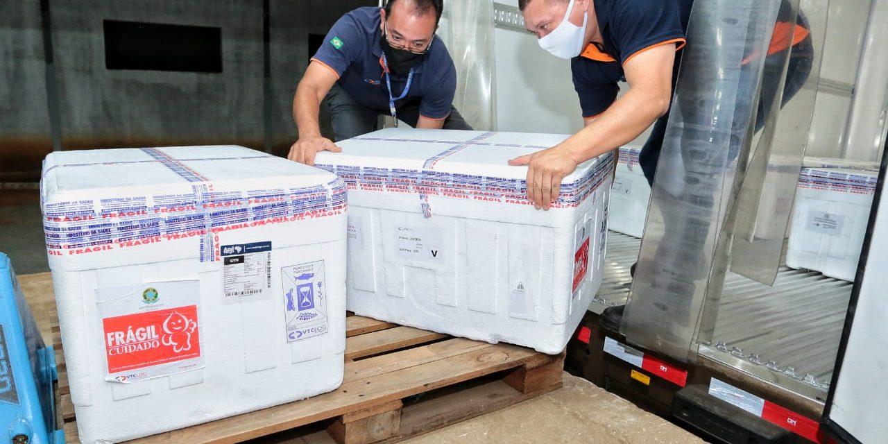 Goiás recebe mais 119.750 doses de vacina da AstraZeneca