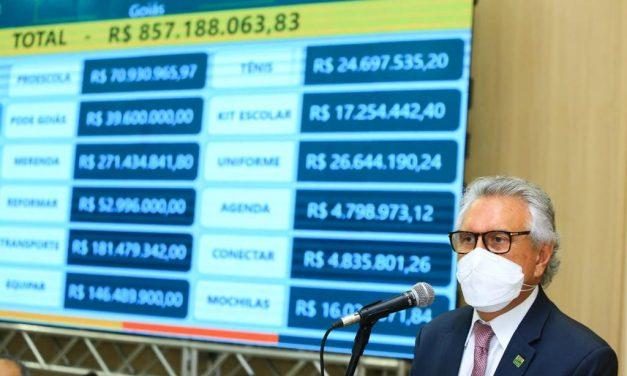 Caiado anuncia que vai encaminhar projeto de lei que aumenta repasse do ICMS para a Educação